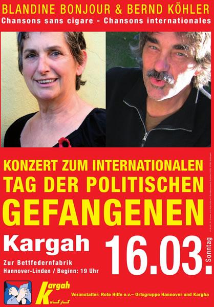 Konzert zum internationalen Tag der politischen Gefangenen