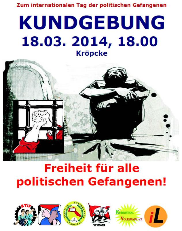 Kundgebung: Freiheit für alle politischen Gefangenen!