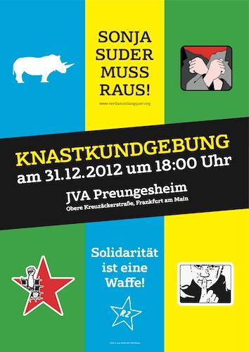 Sonja Suder muss raus! -  Linke Geschichte verteidigen! Solidarität mit Sonja und Christian!